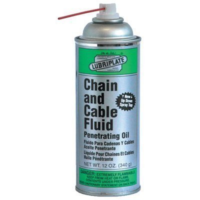 Lubriplate Chain & Cable Fluid, L0135-063, Petroleum-Based Oil, CTN 12/12 Oz Spray