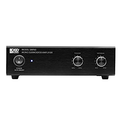 OSD Audio 75W Class A/B Mono Subwoofer Amplifier – Variable High Cut Filter, Volume Control – SMP60: Home Audio & Theater