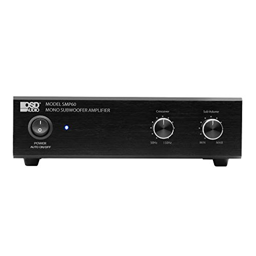 OSD Audio SMP60 Compact 75W Class A/B Mono Subwoofer Amplifier w/Variable High Cut Filter and Volume Control by OSD Audio