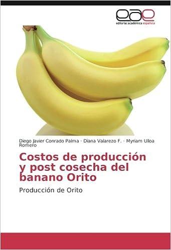 Costos de producción y post cosecha del banano Orito: Producción de Orito