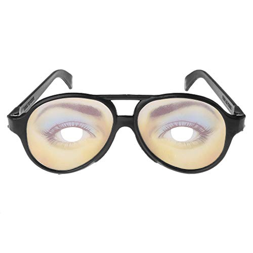 Richi Crazy Eyes Glasses Funny Specs Shape Changing Shades Halloween Party Joke Gifts (Women) ()