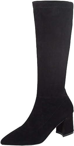 DERENFR Bottes Neige Femme Boots Femme Noir Bottines