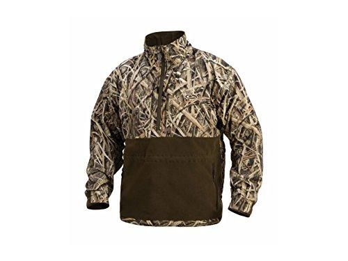 Drake LST Heavyweight Eqwader Quarter Zip Jacket (Mossy Oak Shadow Grass Blades) (Men's Large)