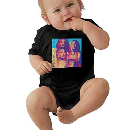 Fifth Harmony Unisex Baby Boy Girl Bodysuits Short Sleeve Infant Cotton Clothes for 0-24 Month 12M Black]()