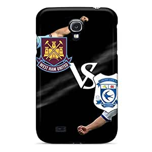 Brand New 4/4S Defender Case For Iphone(Football Club Cardiff City)