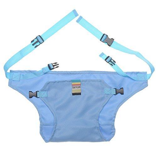 Lychee Faltbar Tragbar Esszimmerstuhl Sicherheitsgurt Schutzgurt Anschnallgurt für Baby und Kleinkind Blau