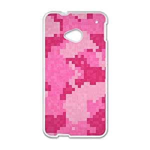 Pink Mosaic Fashion Personalized Phone Case For HTC M7 by mcsharks