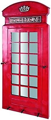 Haku Möbel 89464 – Perchero de Pared (Metal, Rojo, 6 x 39 x 90 cm
