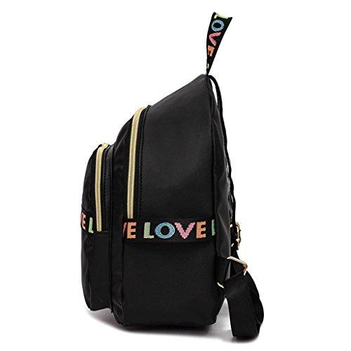 à Nylon Ruffles bandoulière 24 Sacs noir 27 Backpack 11cm Couleur Rw4vAAq