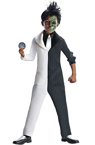 Rubies DC Super Villains Two Face Costume, Child (Halloween Costumes For Two Kids)