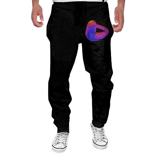 Men's Klein Bottle Comfortable Jersey Sweatpants Black L