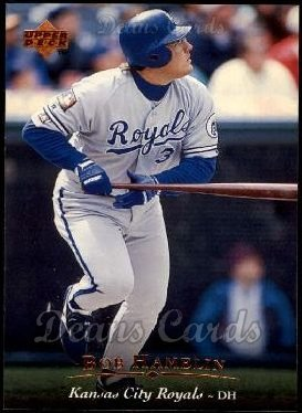 1995 Upper Deck # 180 Bob Hamelin Kansas City Royals (Baseball Card) Dean's Cards 8 - NM/MT Royals ()