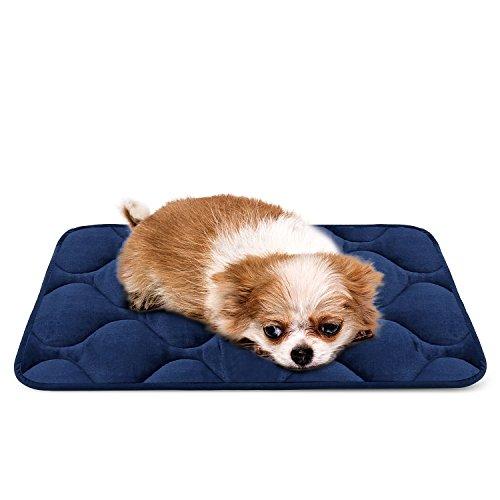 Sleeping Dog Bed Mat Soft Fleece Anti-slip Pad XS Blue by HeroDog