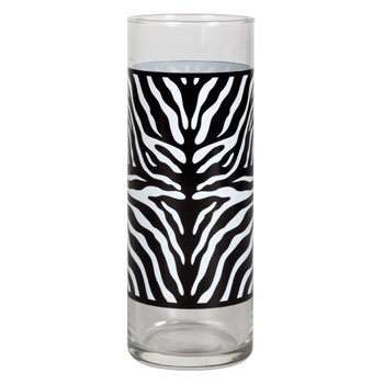 Glass Cylinder Bud Vases 6 Zebra Zebra Print Set Of 6