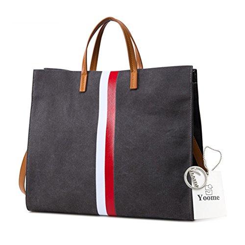 Borse Retro Yoome per Donna Streakiness Tote Handle Tote Borse Elegante Per Donne Borsa Makeup Bag - D.Grey