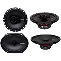2) Rockford Fosgate R168X2 6x8 110W 2 Way + 2) R165X3 6.5 90W 3 Way Speakers