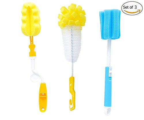 ✅ Bottle Brush 10 inch Set of 3,Deep Clean Water Bottle Cl
