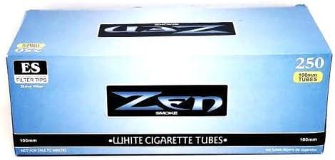 Zen Tamaño de 100 mm cigarrillos tubo de filtro de luz azul blanco caja de tubos 250 ct al por mayor: Amazon.es: Hogar