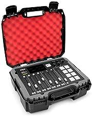 Casematix Studio Mixer - Carcasa rígida compatible con RodeCaster Pro Podcast Production Studio, micrófono Podcasting y accesorios – Funda solo con protección de espuma acolchada roja