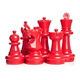 MegaChess Giant Chess Set - Red and White - Plastic - 25 inch King