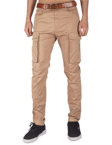 ITALY MORN Men's Chino Cargo Pants Athletic Fit with Big Bellows Pockets