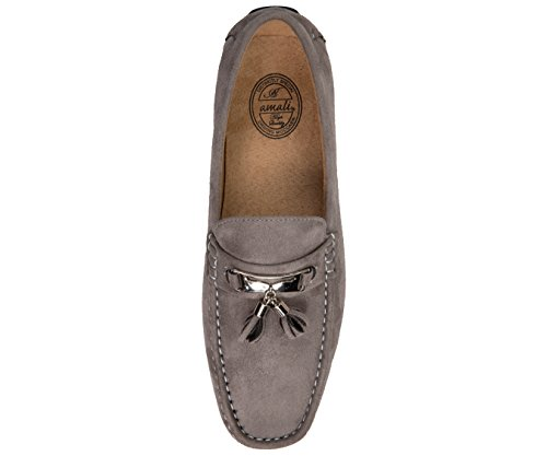Tassel On Comfortable Moccasin Loafer Grey Driver Driving Casual Shoe Amali Microfiber Easy Mens Slip 8XwpEp