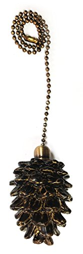 Royal Designs Fan Pull Chain - Pine Cone - Antique Brass