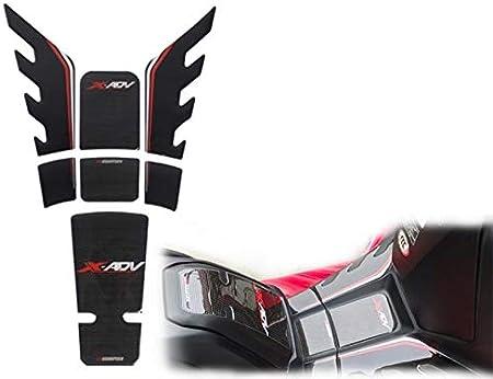 Color : Black MUJUN R/éserve R/éservoir de Moto en Fibre de Carbone 3D Pad Decal Protecteur Autocollants for Honda XADV XADV X-ADV X 750 ADV Moto Autocollants r/éservoir