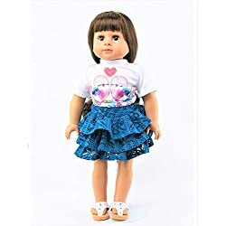 """Love Birds Teal Lace Skirt Set 