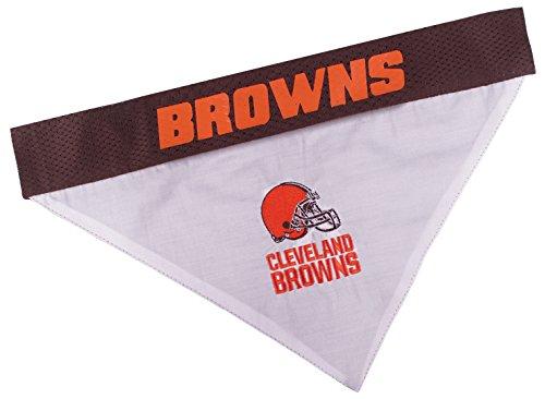 NFL Dog Bandana - Cleveland Browns Reversible PET Bandana. 2 Sided Sports Bandana with a Premium Embroidery Team Logo, Large/X-Large. - 2 Sizes & 32 NFL Teams Available