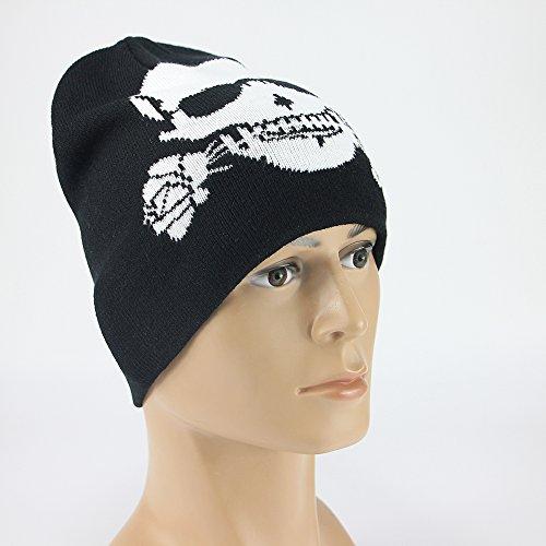 Vakabva Skull and Crossbones Beanie Cap Winter Warm Beanie Hat - Import It  All f7a257c4815
