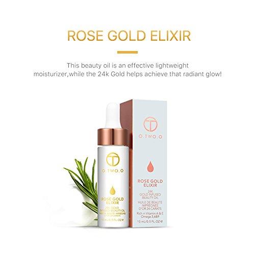 Hot 24k Rose Gold Elixir Skin Make Up Oil For Face Essential Oil Before Primer Foundation Moisturizing Face Oil Anti-aging by Bao Te' (Image #3)