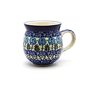 Polish Pottery Mug – 15 oz. Bubble – Antique Rose