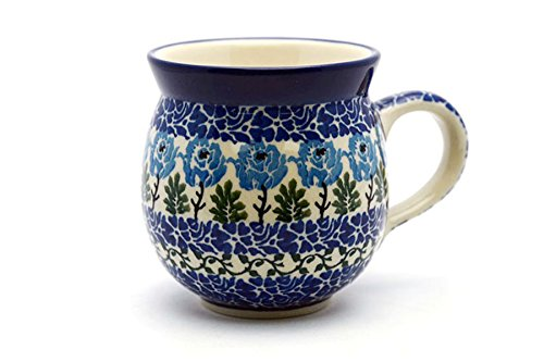 - Polish Pottery Mug - 11 oz. Bubble - Antique Rose