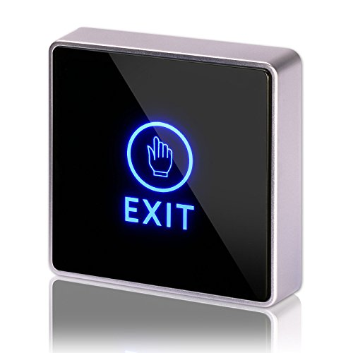 DC 12V NC NO Square, ZOTER Touch Sensor Door Exit Release Button Switch w LED Light