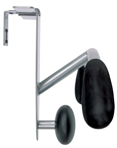Alba Partition and Over-the-Door Coat Hook, Metallic Gray and Black (PMMOUSPART) Alba Plastic Coat Hanger