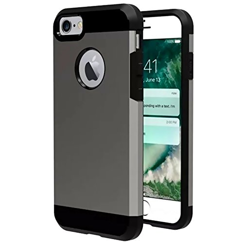 iBarbe Slim Extreme Heavy Duty Case for iPhone 7 /8,Rugged Hybrid Impact Shockproof Soft Case Rugged Hard PC Anti-slip Cover Armor Resilient Shock Absorption Protection for iPhone 7/8 4.7 inch phone -