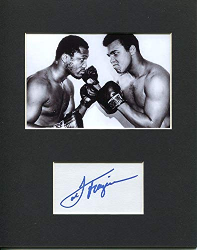 Autographed Joe Frazier Picture - Heavyweight Olympic Champ Rare Display - Autographed Boxing Photos