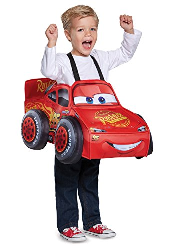Cars 3 Lightning Mcqueen 3D Toddler Costume, One Size (Up To Size 6) ()