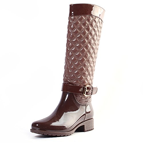 AlEXIS LEROY New Arrival Warm Winter Women Knee High Checker
