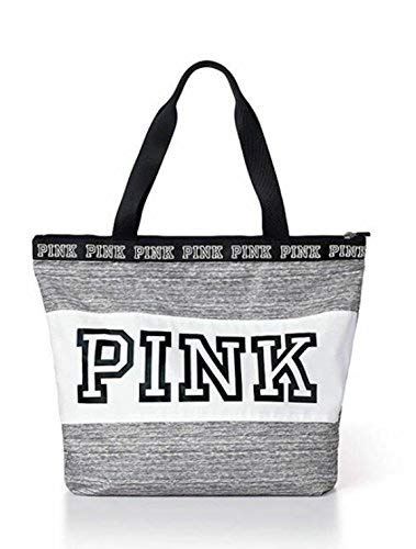 Victoria's Secret PINK Zip Tote Marl Grey Logo