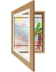 Americanflat Kids Artwork Picture Frame with Shatter-Resistant Glass - Display Artworks Sized 8.5x11 with Mat and 10x12.5 Without Mat