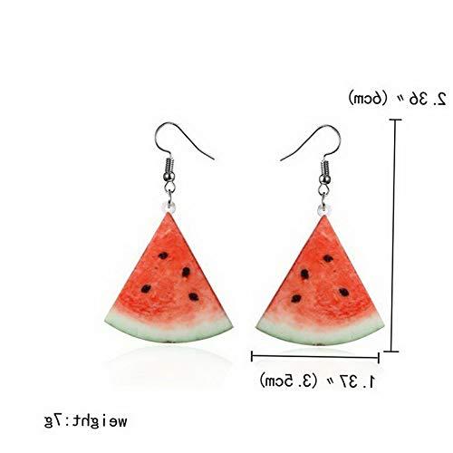 Waldenn 9 Pair/Set Acrylic Double-Sided Fruit Orange Dangle Hook Earrings Women Jewelry | Model ERRNGS - 12631 | ()