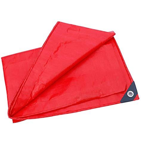 講義ドキドキスプーン防雨日焼け止め防水防水赤天幕ターポリン結婚式の足場耐摩耗性耐引裂きトラックのターポリン180g /平方メートル(20サイズあり) (色 : Red, サイズ さいず : 5 * 5m)