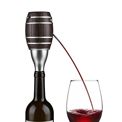 Dreamsoule Wine Barrel Shape One Touch Luxury Electric Wine Aerator Decanter Pump Pourer for Wine and Spirit Battery Operated by Dreamsoule