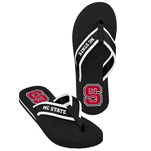 Nc State Mens Contour Flip Flop - Black Large -