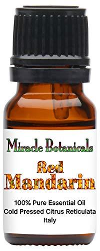 Miracle Botanicals Red Mandarin Essential Oil - 100% Pure Citrus Reticulata - Therapeutic Grade - Italy 10ml (Essential Oil Citrus Reticulata)