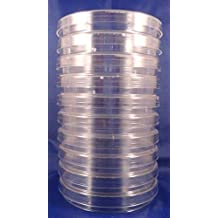 10 Pack of 100mmx15mm Sterilized Petri Dishes with Lids