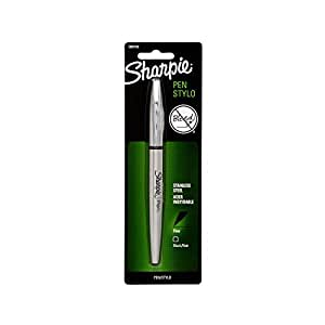 Sharpie Stainless Steel Pen Grip Fine Point Black Ink Pen (1800702)
