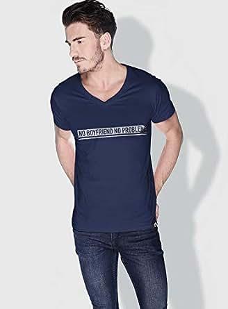 Creo No Bf No Problem Funny T-Shirts For Men - S, Blue